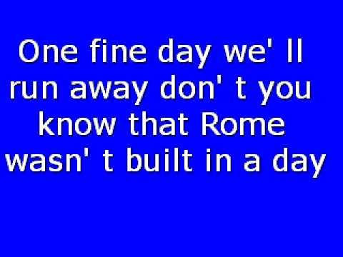 Morcheeba-  rome wasn't built in a day lyics