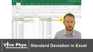 Standard Deviation in Excel