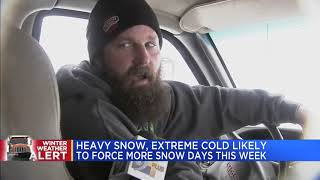 Heavy snow, extreme cold likely to force more snow days this week
