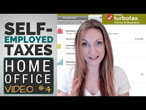 [Self-Employed TurboTax #V4] How To Write-Off A Home Office? Actual Vs. Simplified