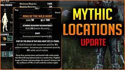 Where do MYTHIC Items Drop? Location List - Greymoor Elder Scrolls Online