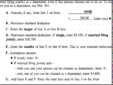 How to Complete a 1040EZ Tax Form : How to File a 1040EZ ...