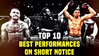 Top 10: Best Performances On Short Notice In The UFC