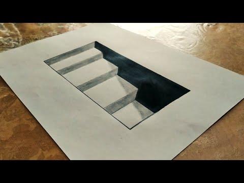 3d merdiven çizimi,3d ladder drawing,rəsm dərsi,sekil cekmek,şəkil çəkmək,3d sekil cekmek,3 boyutlu