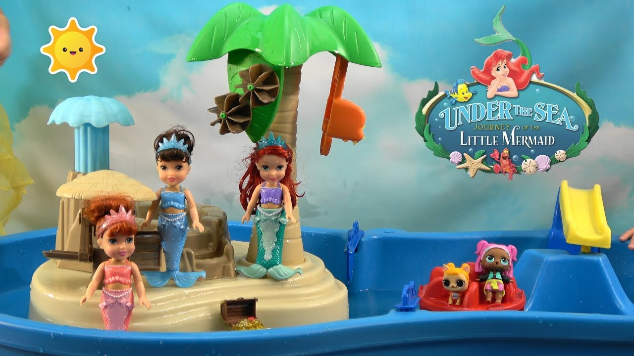 Princess Story: Little Mermaid Ariel Birthday Party in Splash Pool ...