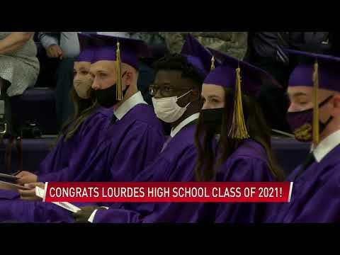 Graduation at Lourdes High School