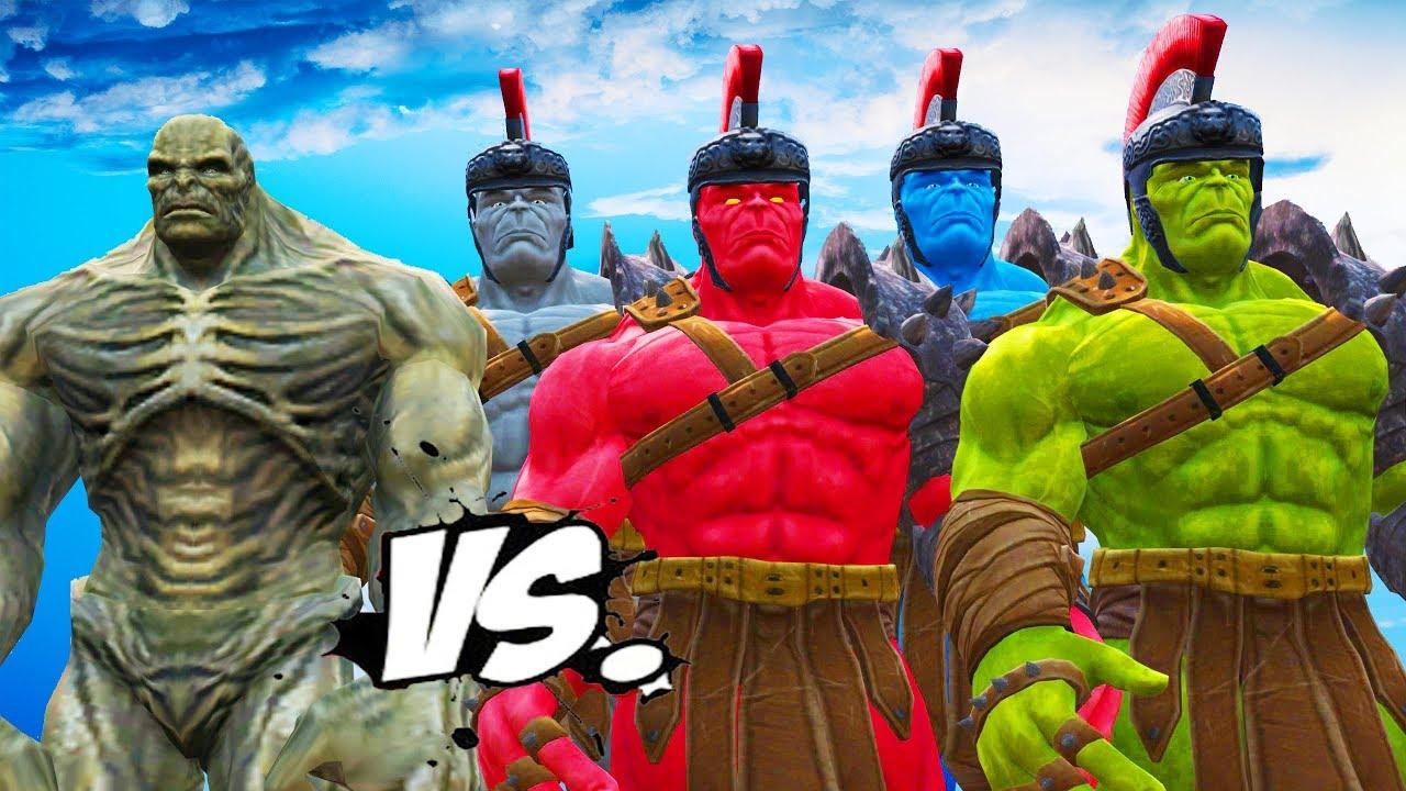 ABOMINATION VS RED HULK, BLUE HULK, GREY HULK, GREEN HULK ...