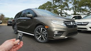 2019 Honda Odyssey Elite: Start Up, Walkaround, Test Drive and Review
