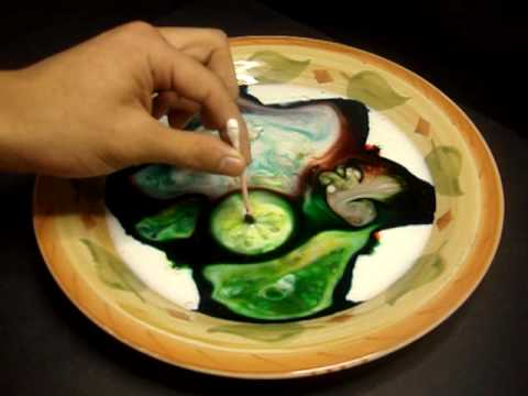 Fun with Magic Milk and Food Coloring! (Science Experiment) - YouTube