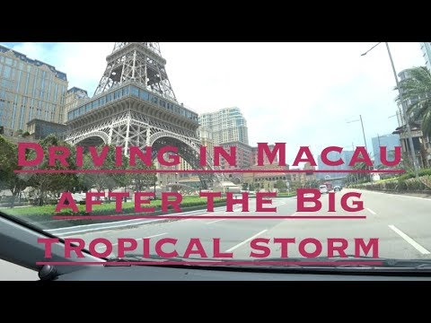 "Taking a Drive in Macau after tropical storm ""Hato"""