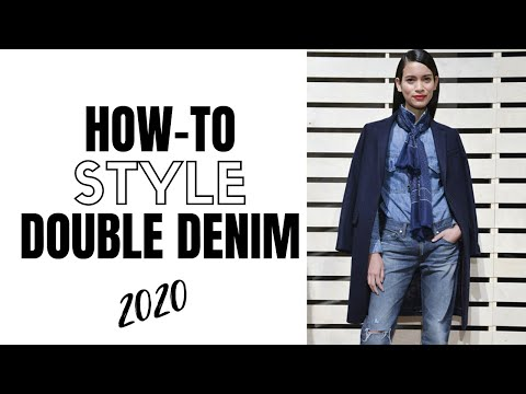 How to wear double denim in 2020 | fashion trends 2020. http://bit.ly/2GPkyb3