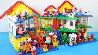 Peppa Pig Building Lego House Toys For Kids - Lego House Creations Toys #4