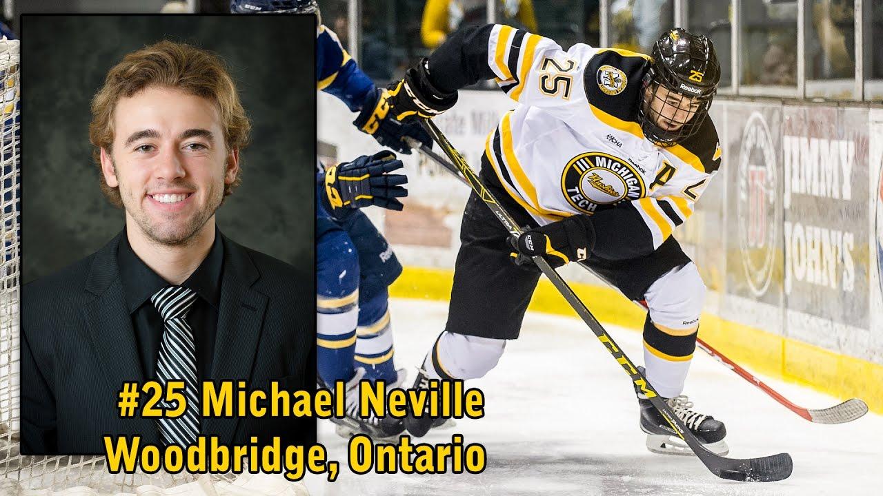 the latest df3b7 617b1 Senior Spotlight: Forward Michael Neville - Michigan Tech ...