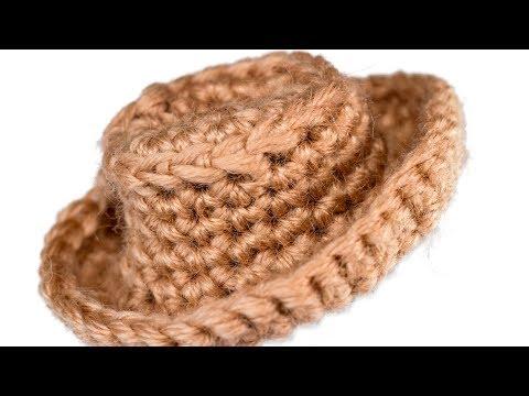 cowboy hat crochet sombrero vaquero pattern # 15