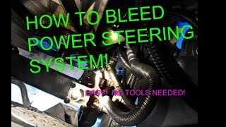How to bleed power steering systems fluid on your car or truck