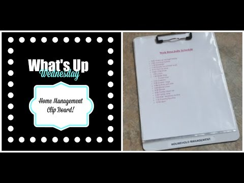 Household management clip board!