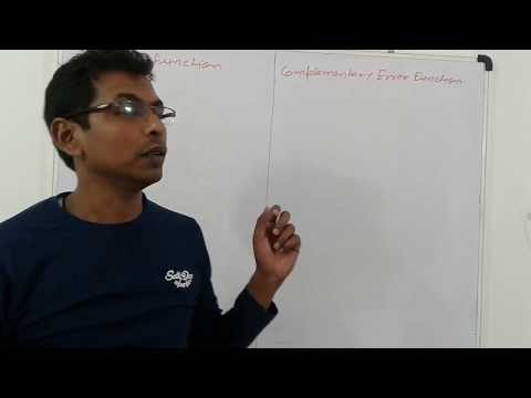 ERROR AND COMPLEMENTARY FUNCTION ( HINDI+ENGLISH)