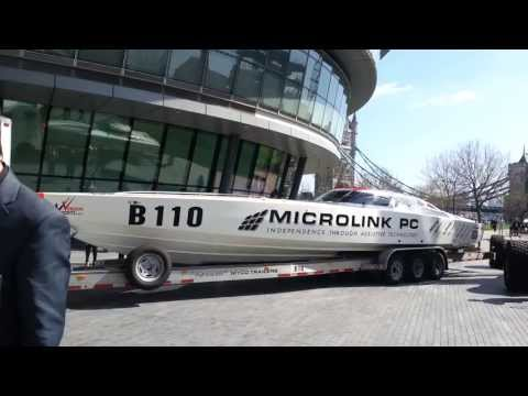 Venture Offshore Cup racing boats arriving in London for the Media Launch Part 2