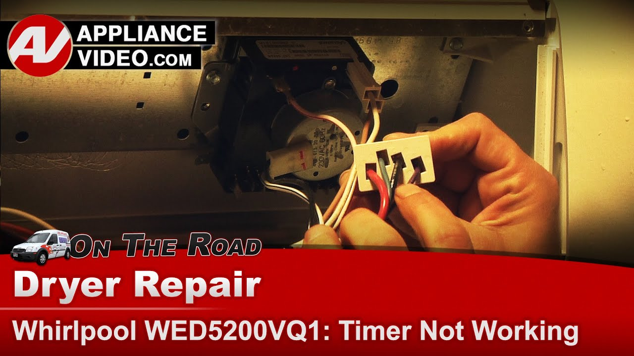 whirlpool roper kenmore dryer timer not working diagnostic repair [ 1280 x 720 Pixel ]
