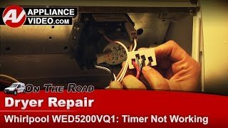 Whirlpool, Roper, Kenmore Dryer -Timer not working -Diagnostic & Repair