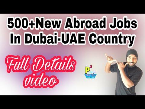 Abroad Job At Dubai Country,500+ Jobs Post, Salary 1500+200+ OT Dubai Dirham