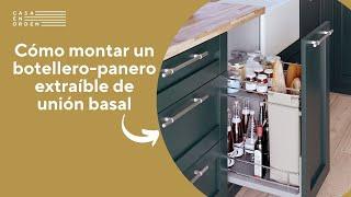Cómo montar un botellero-panero extraíble de rejilla de unión basal para mueble de cocina