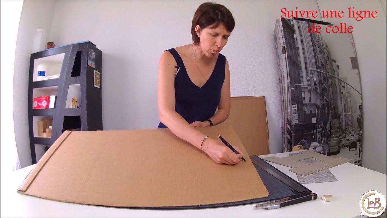 tuto gratuit creer un gabarit pour fabriquer un meuble en carton