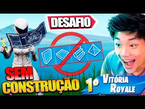 QUEBREI O FORTNITE!!? FIZ O DESAFIO SEM CONSTRUÇÃO E DESTRUÍ O JOGO!!