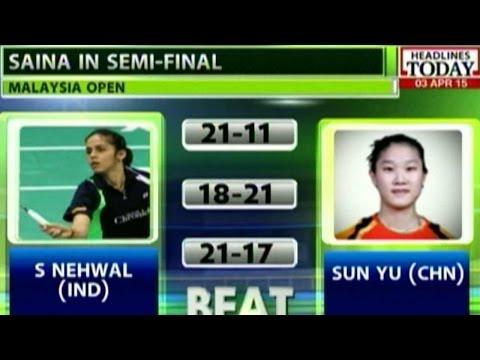 Saina Nehwal Enters Semi Finals Of Malaysian Open