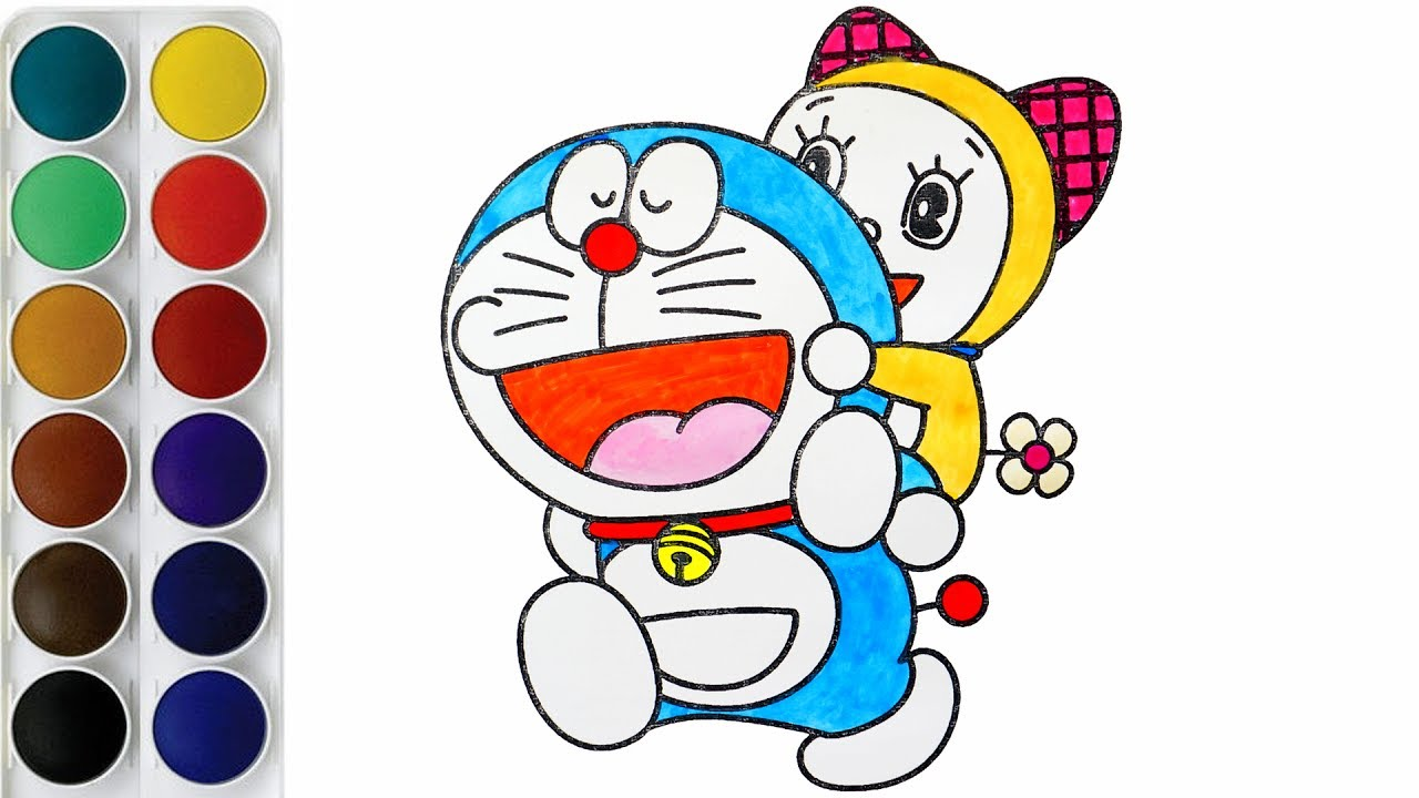 coloring doremon and doremi coloring book for kids youtube