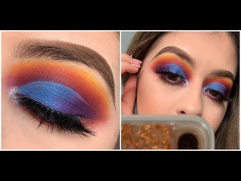 Blue Sunset Eyeshadow Tutorial- James Charles Palette thumbnail