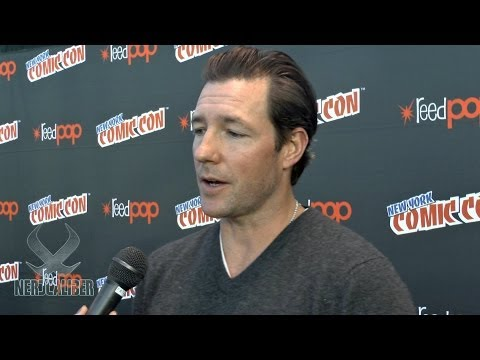 Actor EDWARD BURNS - MOB CITY Interview at New York Comic Con 2013