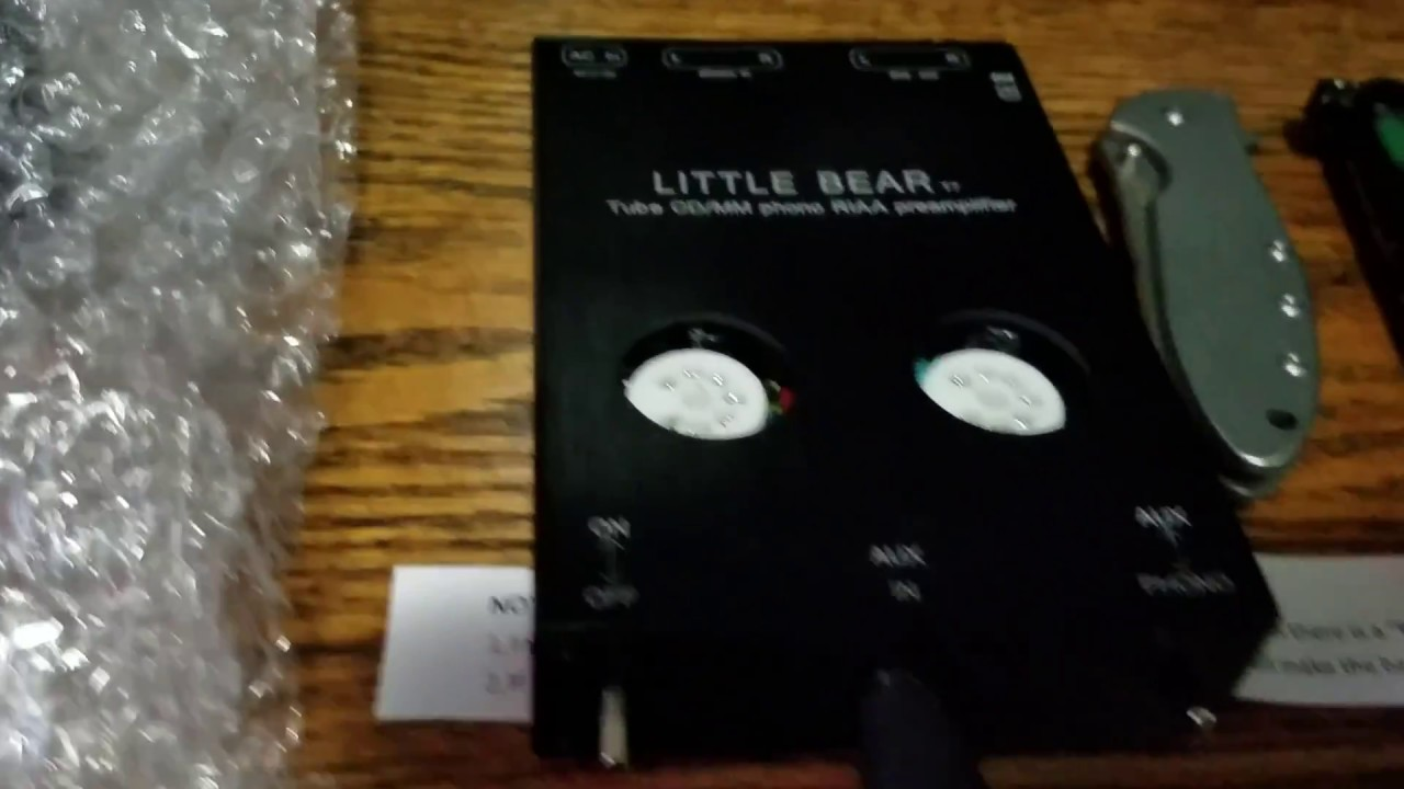 Little bear t7 phono preamplifier auxiliary preamplifier cd mm phono tube  amp