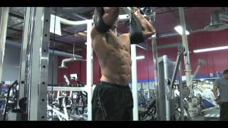 Hanging knee lifts for lower abs - Rob Riches