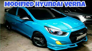 Modified Hyundai Verna With Nitrious Blue Paint By Modsters Automotive