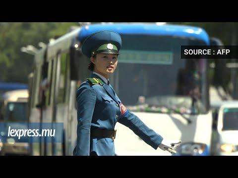 Les «Demoiselles de la circulation», emblématiques de Pyongyang
