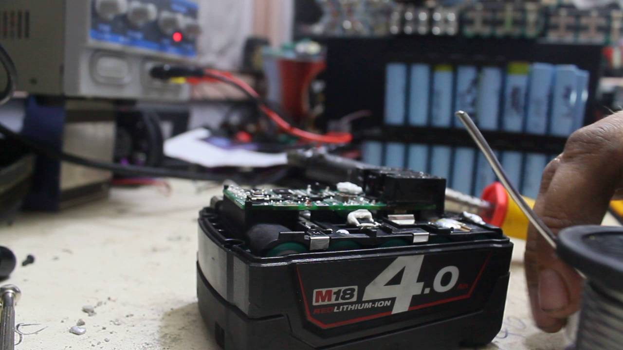 Milwaukee M18 Battery Milwaukee M18 4 Rapid Charge Battery Repair Fuseable Link