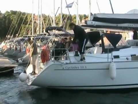 boat marina berthing rope guide