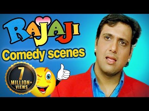 All comedy scenes of RAJAJI - Govinda, Raveena Tandon - Superhit Comedy Movie
