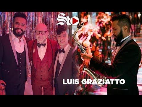 Luis Grazziato, el saxofonista que cautivó a Dolce&Gabbana