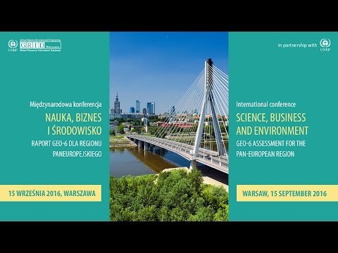 GEO-6: Environmental changes in the pan-European region (plenary session)