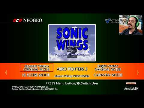 Aca Neo Geo Aero Fighters 2 (Sonic Wings) Tentando os 1000G