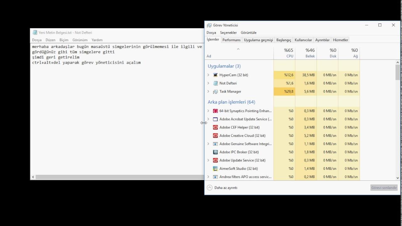 Windows 7 masaüstü arka plan resmi kayboluyor