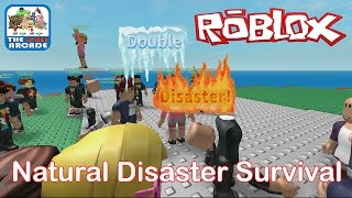 Roblox: Natural Disaster Survival - The Dreaded Double Disaster (Xbox One Gameplay)