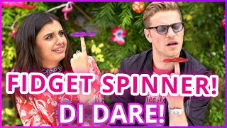DIY FIDGET SPINNERS?! Di Dare w/ Rebecca Black & Cameron Fuller