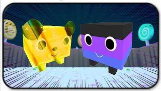The Rare Dark Candy Corn And Gold Gummy Bear - Roblox Pet Simulator