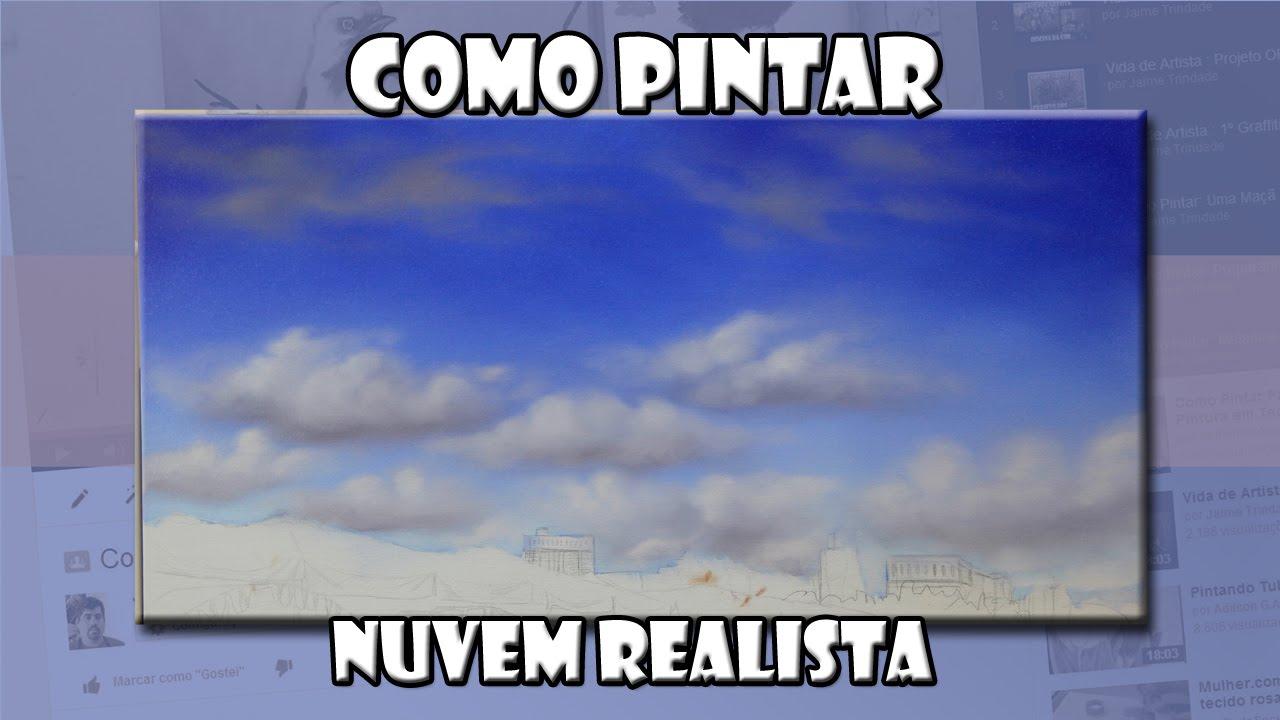 Como Pintar: Nuvem Realista ( Passo-a-Passo ) - YouTube