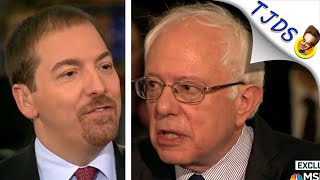 Bernie Sanders Calls Out CHUCK TODD & Wealthy Corporate Sponsors Right To His Face