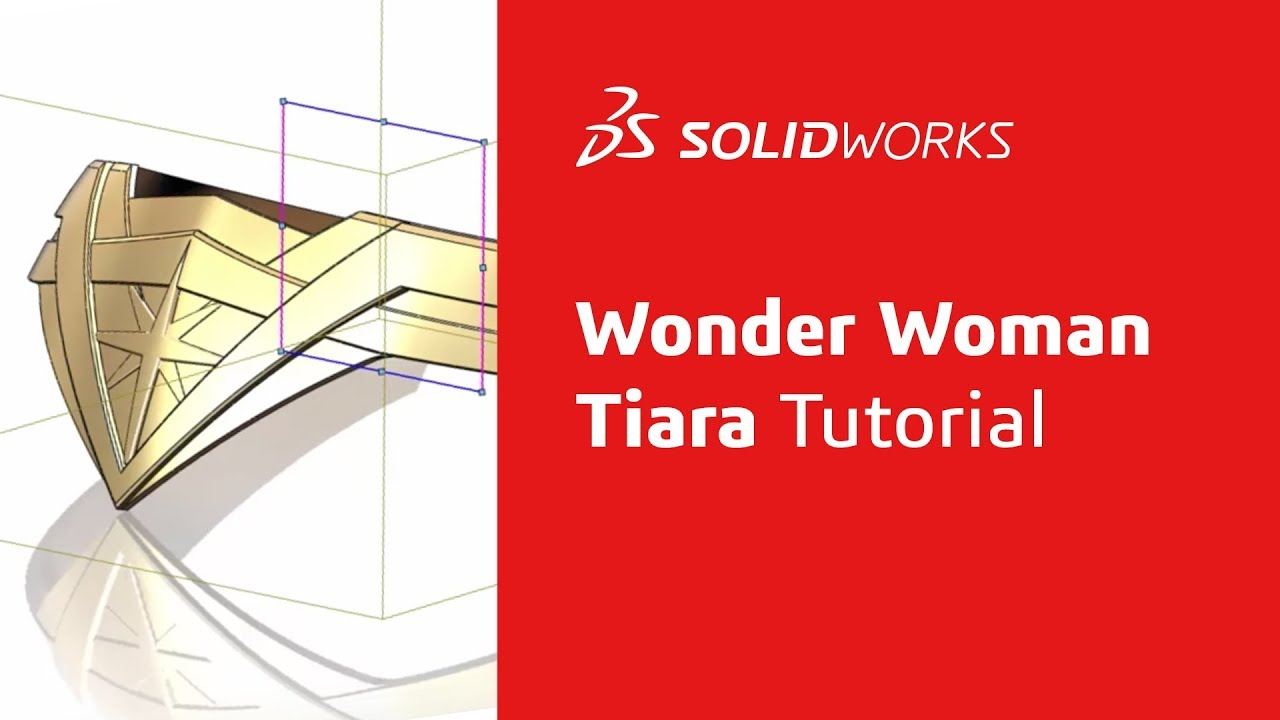 Wonder Womans Tiara Tutorial Part 1 Solidworks Youtube