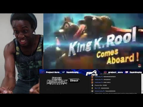 Squid Reacts: Super Smash Bros. Ultimate ~King K. Rool Reveal~